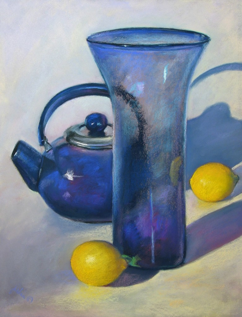 Still life painting in pastel by Julia Lucich